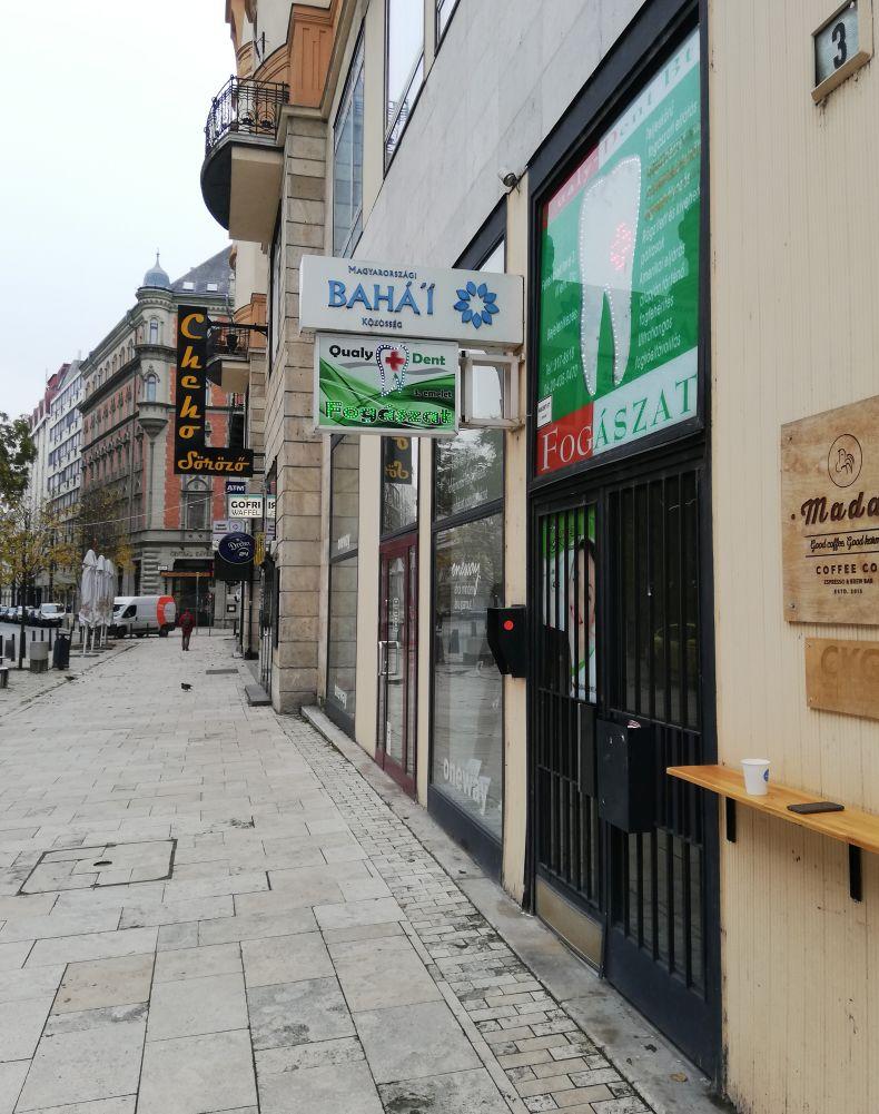Sign of the Bahá'í Centre in Budapest