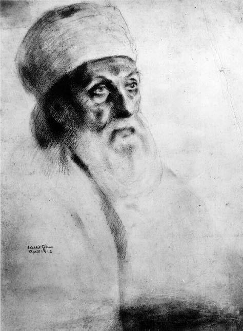 Kahlil Gibran rajza 'Abdu'l-Baháról, aki Kahlil Gibran műveit ihlette. (c) Bahá'í Nemzetközi Hírszolgálat news.bahai.org