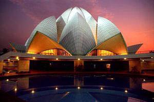 A bahá'í hit leglátogatottabb épülete a Lótusz templom. Több, mint négy és fél millió látogatót vonz évente (Új-Delhi, India) (c) Bahá'í Nemzetközi Közösség media.bahai.org